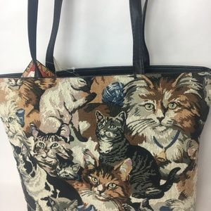 Super Cute Crazy Cat Lady Tote and Coin Purse